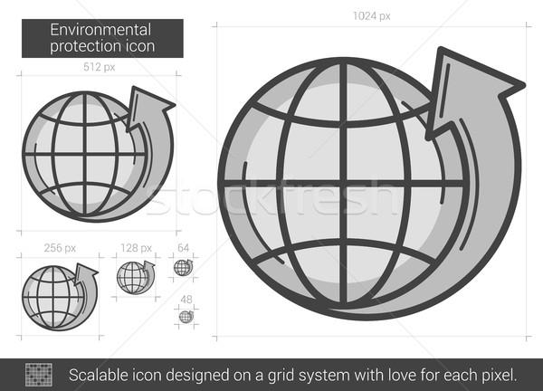 Environmental protection line icon. Stock photo © RAStudio