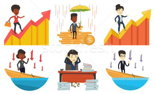 Vector set of business characters. Stock photo © RAStudio
