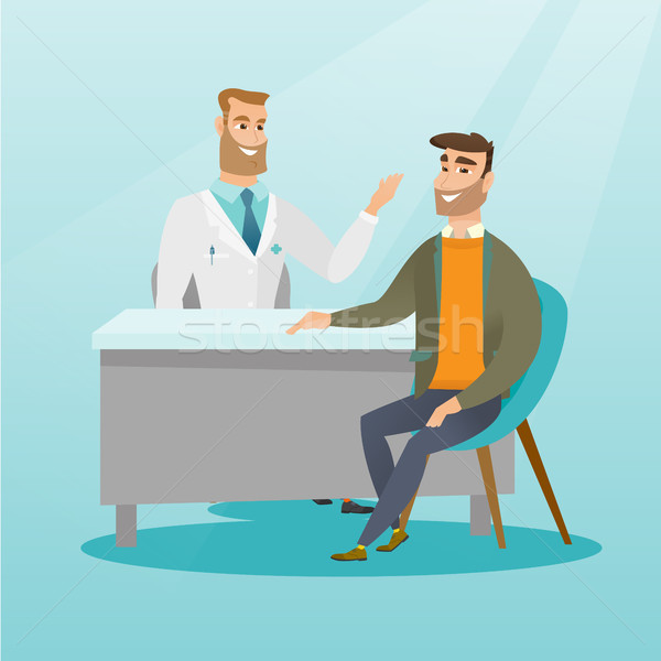 Doctor consulting male patient in office. Stock photo © RAStudio