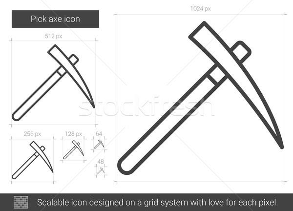 Pick axe line icon. Stock photo © RAStudio