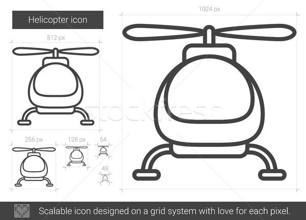 Stockfoto: Helikopter · lijn · icon · vector · geïsoleerd · witte