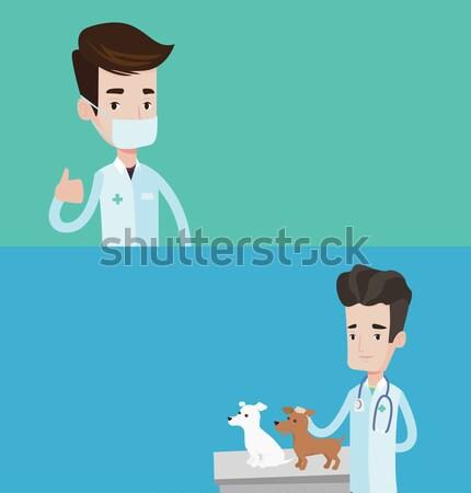 ветеринар собака молодые мужчины сердцебиение Сток-фото © RAStudio