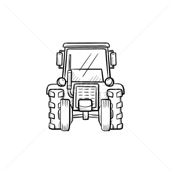 トラクター 手描き スケッチ アイコン ベクトル ストックフォト © RAStudio
