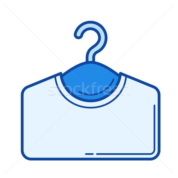Ubrania wieszak line ikona wektora odizolowany Zdjęcia stock © RAStudio