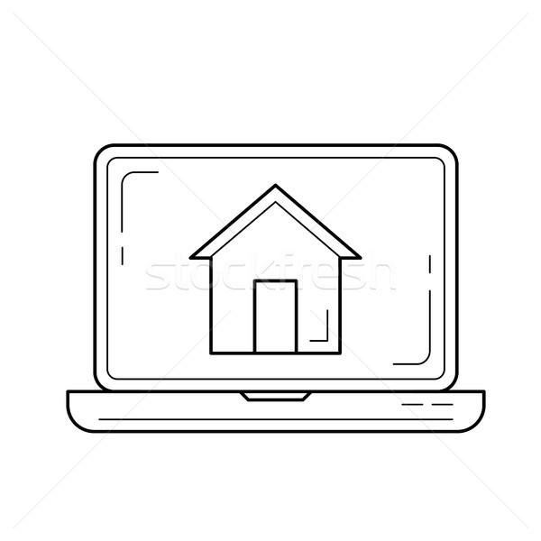 Kurumsal web sitesi hat ikon vektör yalıtılmış Stok fotoğraf © RAStudio