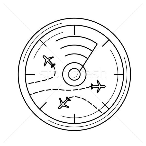 Lotu radar line ikona wektora odizolowany Zdjęcia stock © RAStudio