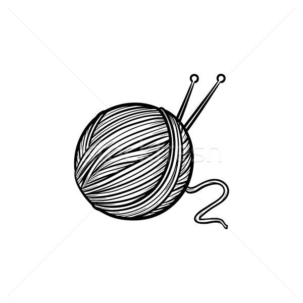 Thread with spokes hand drawn sketch icon. Stock photo © RAStudio