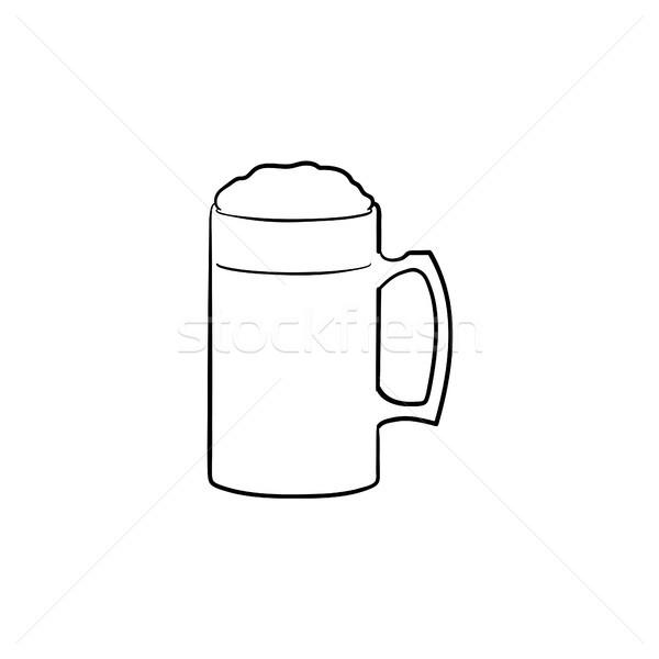 Mug of beer hand drawn sketch icon. Stock photo © RAStudio