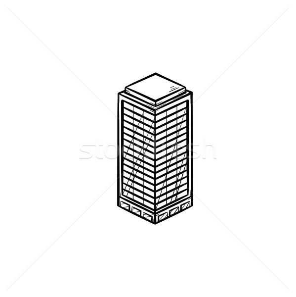 Office building hand drawn outline doodle icon. Stock photo © RAStudio