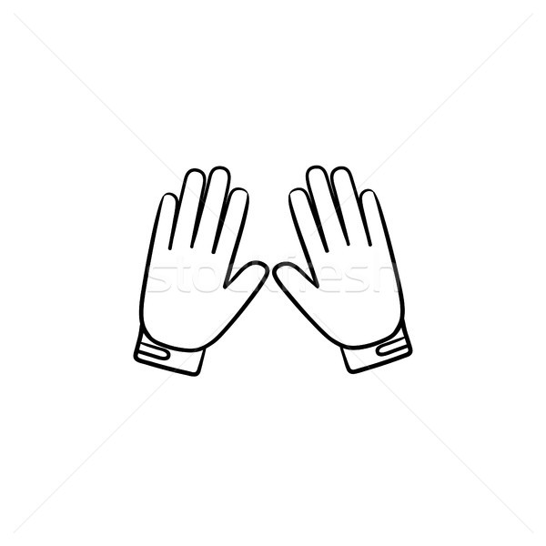 Motorcycle gloves hand drawn outline doodle icon. Stock photo © RAStudio