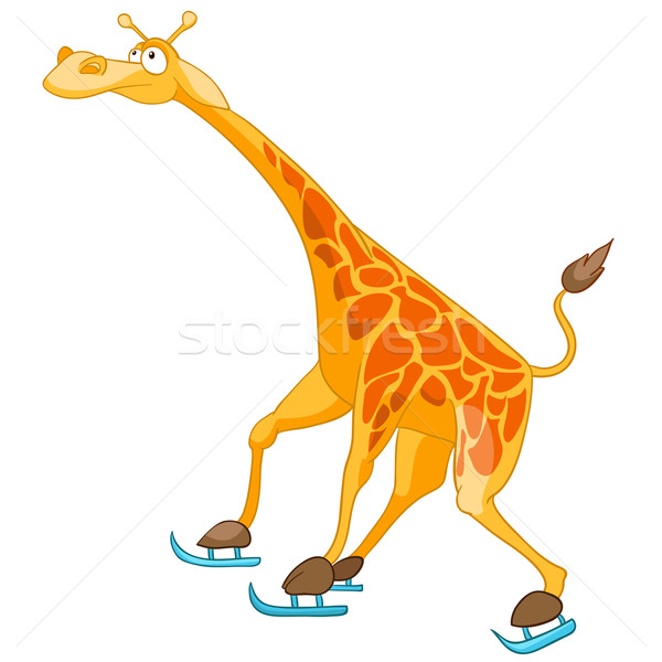 Cartoon Character Giraffe Stock photo © RAStudio