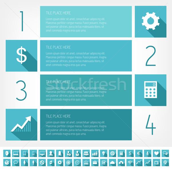 IT Industry Infographic Elements Stock photo © RAStudio