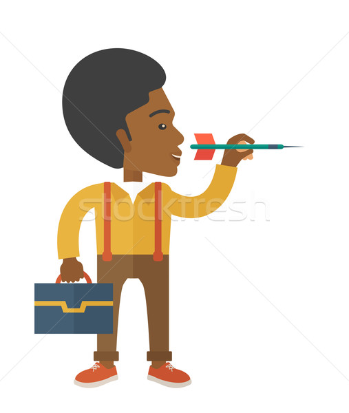 Hombre objetivo flecha hombre negro mirando Foto stock © RAStudio