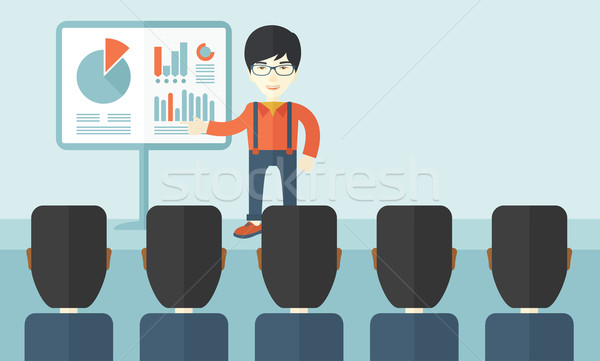 Marketing officer with his team. Stock photo © RAStudio