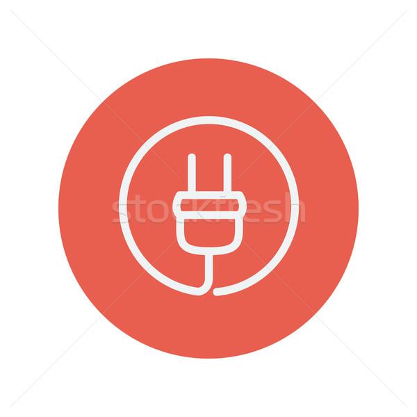 Electrical plug thin line icon Stock photo © RAStudio