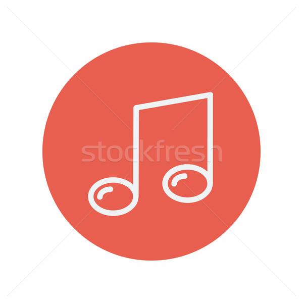 Zene jegyzet vékony vonal ikon háló Stock fotó © RAStudio