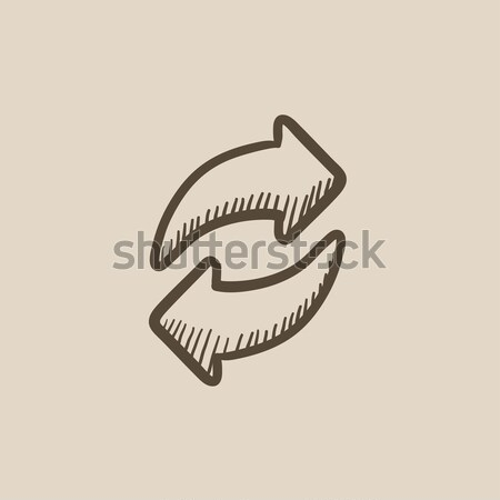 Chorizon chain sketch icon Stock photo © RAStudio