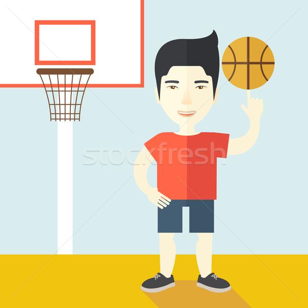 Bola asiático profissional dedo vetor Foto stock © RAStudio