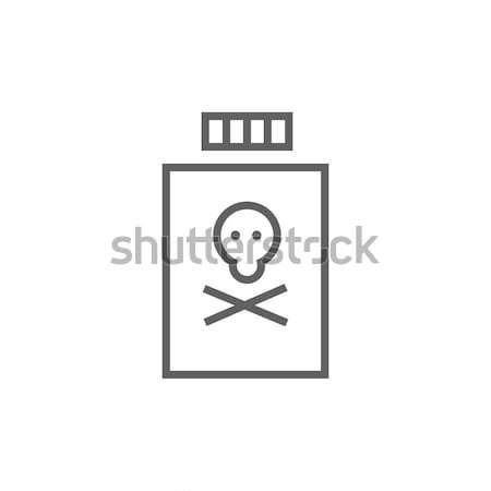 Garrafa veneno linha ícone teia móvel Foto stock © RAStudio