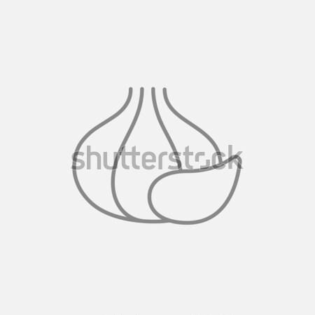 Garlic line icon. Stock photo © RAStudio
