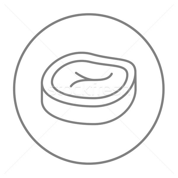 ステーキ 行 アイコン ウェブ 携帯 インフォグラフィック ストックフォト © RAStudio