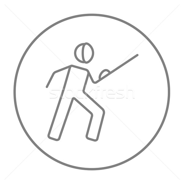 Fencing line icon. Stock photo © RAStudio