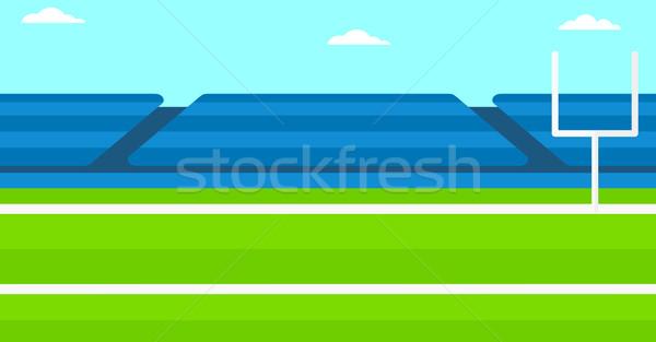 Rögbi stadion vektor terv illusztráció vízszintes Stock fotó © RAStudio
