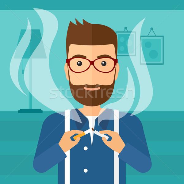 Man quit smoking. Stock photo © RAStudio