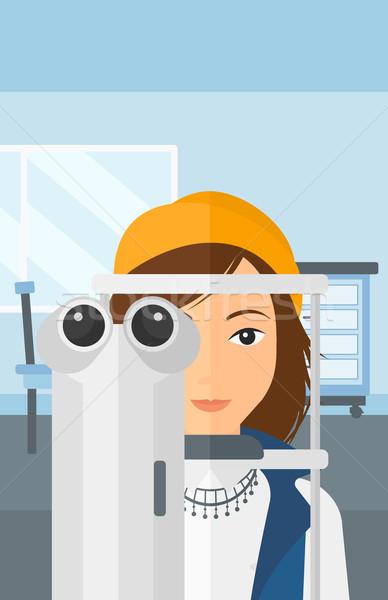 Hasta göz doktoru kadın göz tıbbi ofis Stok fotoğraf © RAStudio