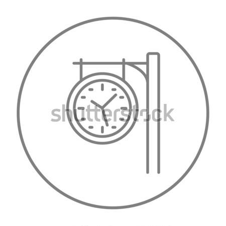 Train station clock line icon. Stock photo © RAStudio