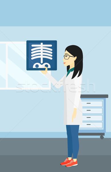 Medico asian medici ufficio vettore Foto d'archivio © RAStudio