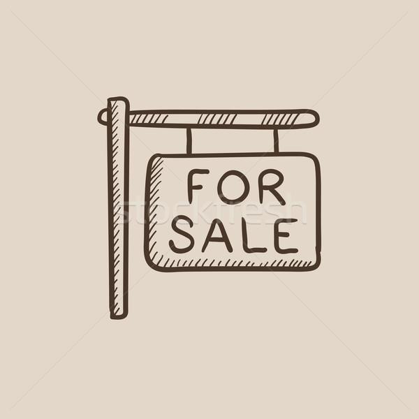 For sale signboard sketch icon. Stock photo © RAStudio