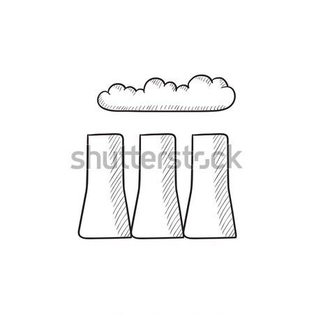 Factory pipes line icon. Stock photo © RAStudio