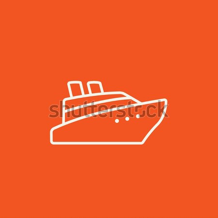 Crucero línea icono esquinas web móviles Foto stock © RAStudio