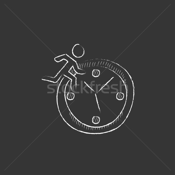 Time management. Drawn in chalk icon. Stock photo © RAStudio
