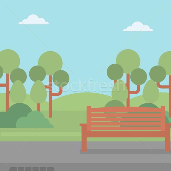 Background of park with bench. Stock photo © RAStudio