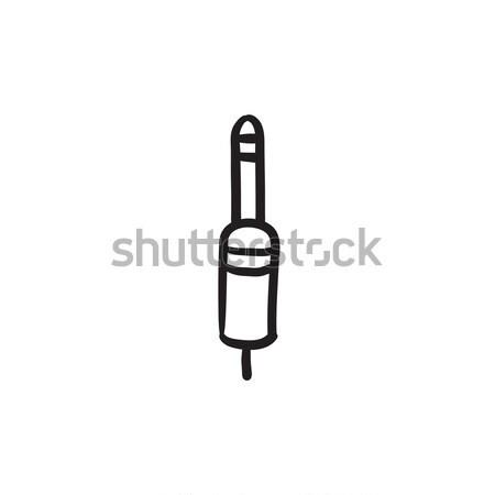 Jack cable sketch icon. Stock photo © RAStudio