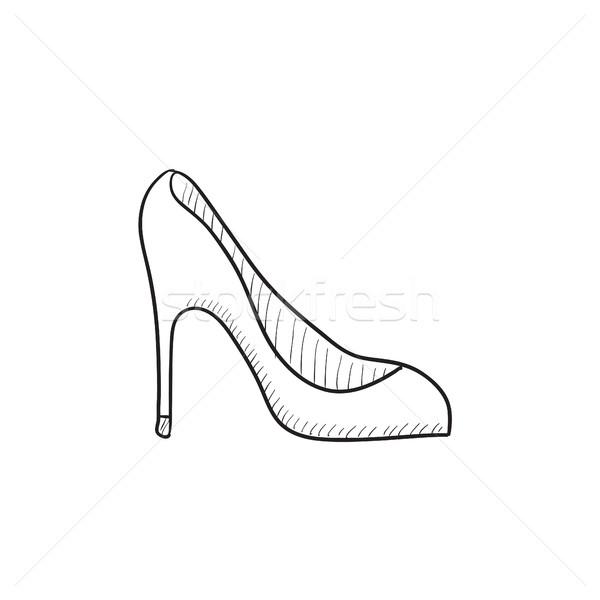 Hiel schoen schets icon vector geïsoleerd Stockfoto © RAStudio