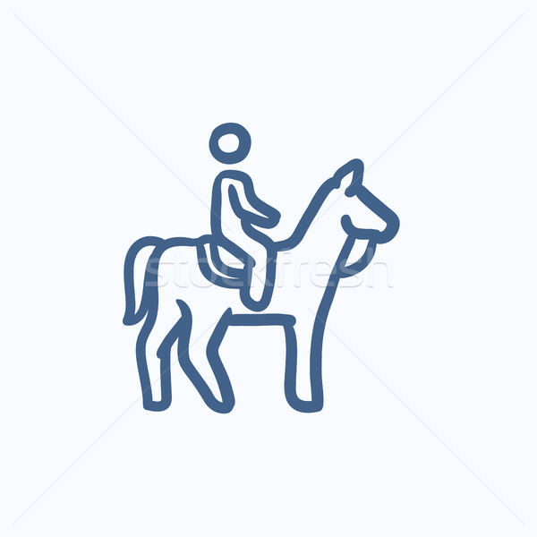 Horse riding sketch icon. Stock photo © RAStudio