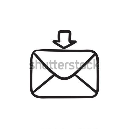 Incoming email sketch icon. Stock photo © RAStudio