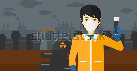 Man in radiation protective suit. Stock photo © RAStudio