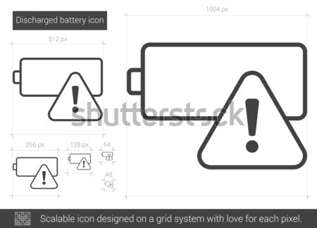 Discharged battery line icon. Stock photo © RAStudio