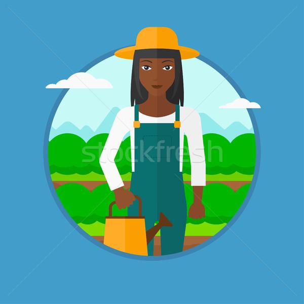 農家 じょうろ キャベツ フィールド 農業の ストックフォト © RAStudio
