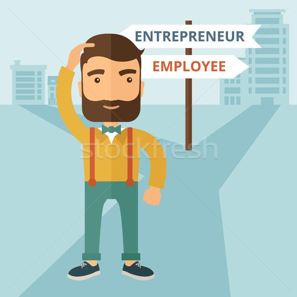 Employee to entrepreneur Stock photo © RAStudio