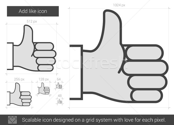 Add like line icon. Stock photo © RAStudio