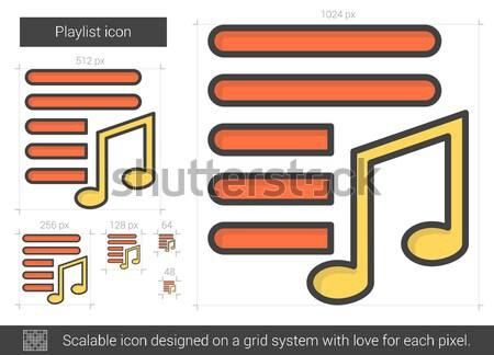 Playlist line icon. Stock photo © RAStudio