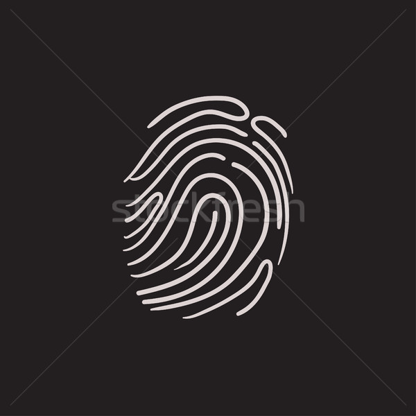 Fingerprint sketch icon. Stock photo © RAStudio