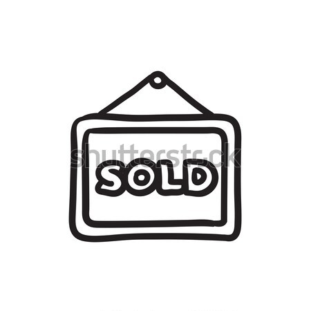Sold placard sketch icon. Stock photo © RAStudio