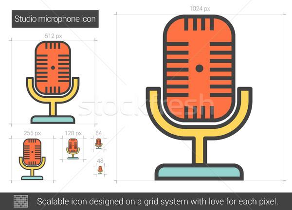 Studio microphone line icon. Stock photo © RAStudio