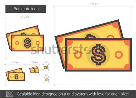 Banknote line icon. Stock photo © RAStudio